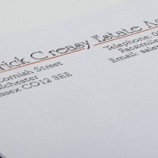 Thermographic Letterhead