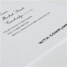 Compliment slips printed in black thermo