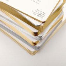 Selection of gold & silver gilt edged cards