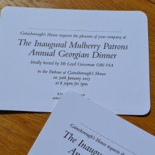 Black thermo printed invitations