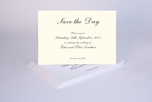 Thermographic raised print save the day cards