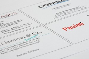 Embossed Printed Business Cards