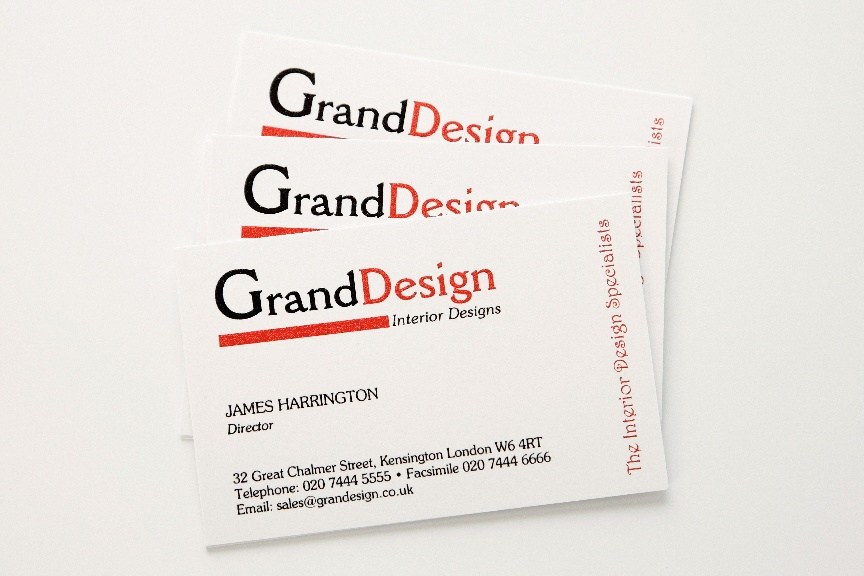 Raised printed business cards qty 250 starting from 5500 black red thermo printed business cards reheart Choice Image