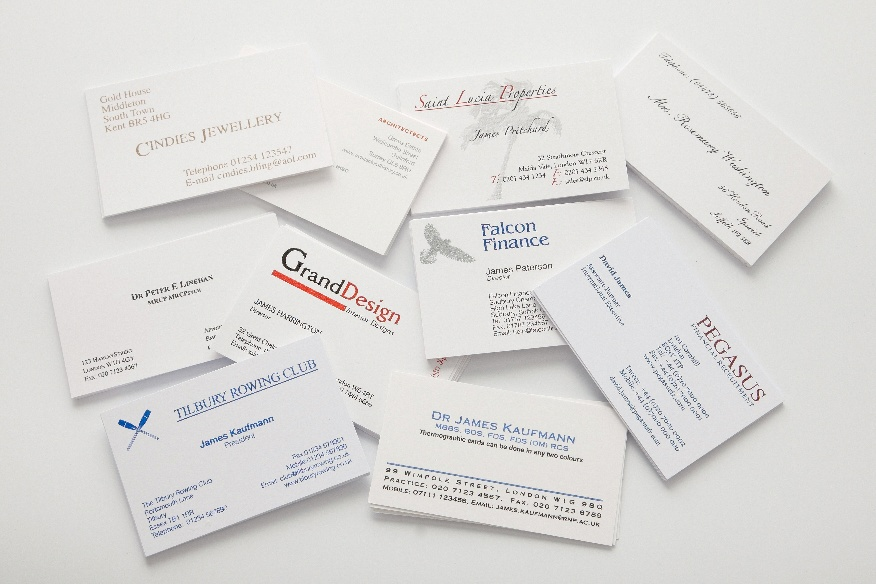 Raised Printed Business Cards Qty 250 Starting from £55.00 ...