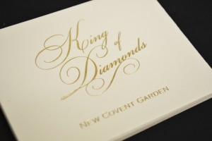 Gold foil printed business cards
