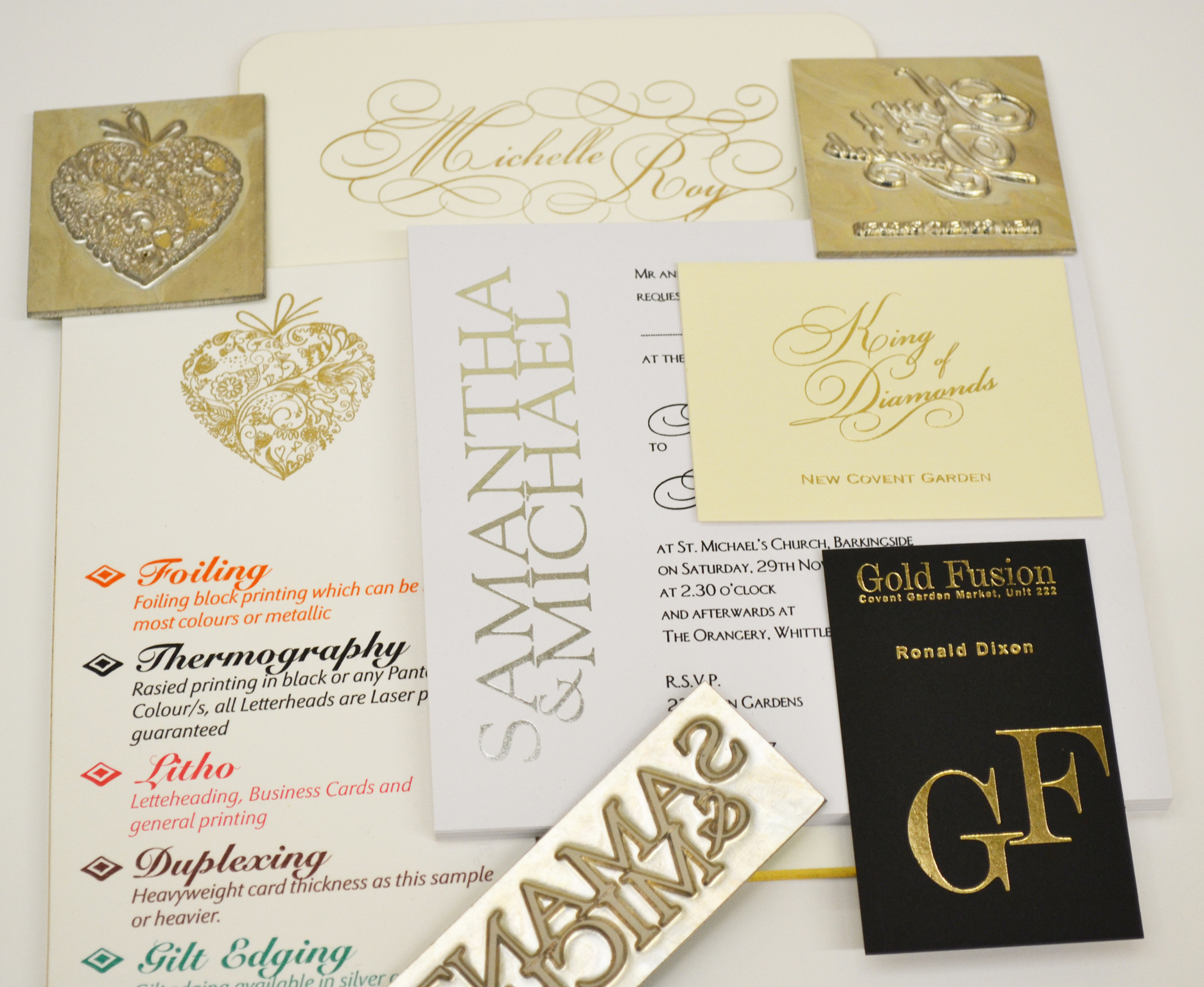 Foil Printed Business Cards - Thermofast Printing