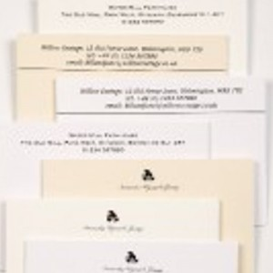 Selection of thermo printed correspondence cards