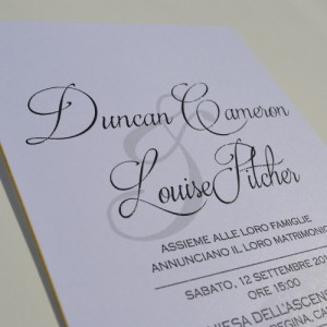 Thermographic Raised Print Wedding Invites